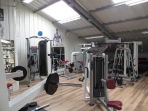 La mezzanine dédiée à la musculation