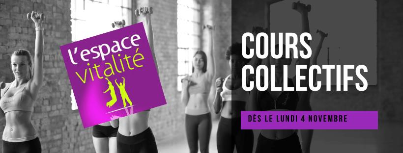 PLANNING – Cours collectifs à partir du lundi 4 novembre
